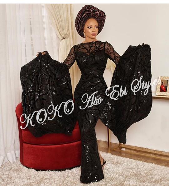 10 Stunning Black Aso Ebi Styles That Are Bridal Worthy