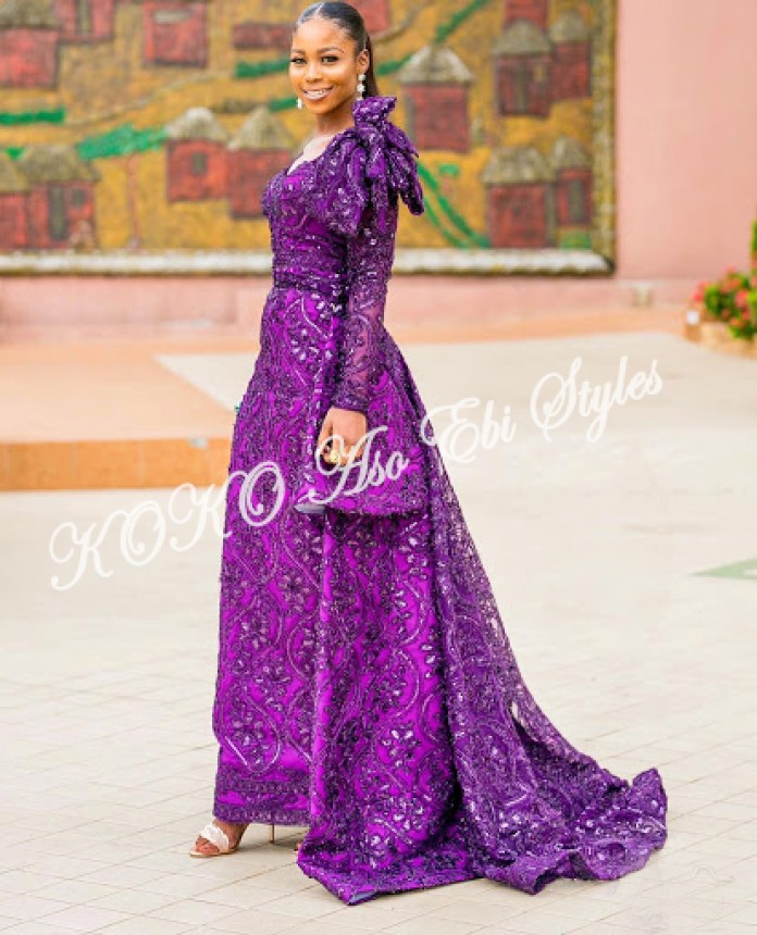 10 Gorgeous Aso Ebi Styles With A Train That Shows Off Your Curves