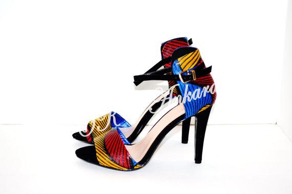 Ankara women heels