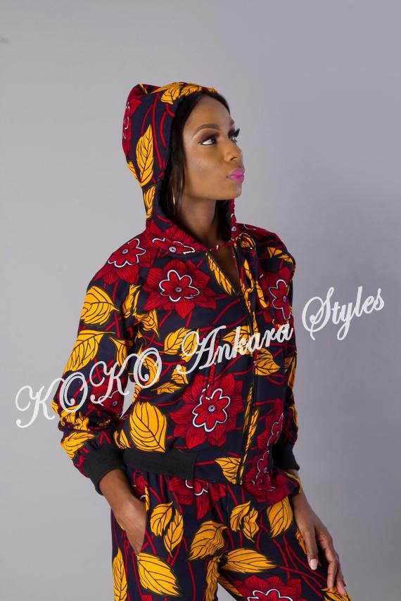 Women Ankara Hoodies, Ankara Trends