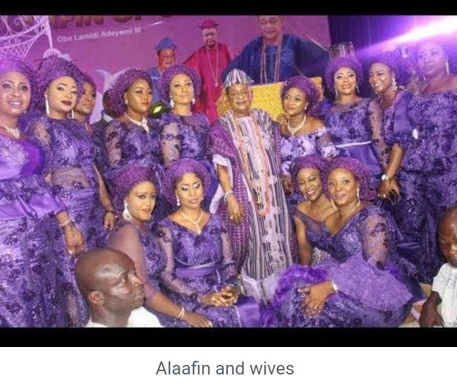 Alaafin and some of his wives