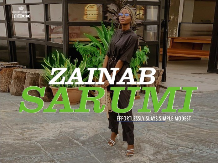 Zainab Sarumi Effortlessly Slays Simple Modest Outfits
