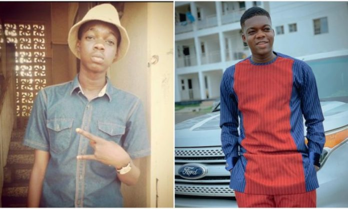 Cute Abiola Advises Fans As He Shares Throwback Photos