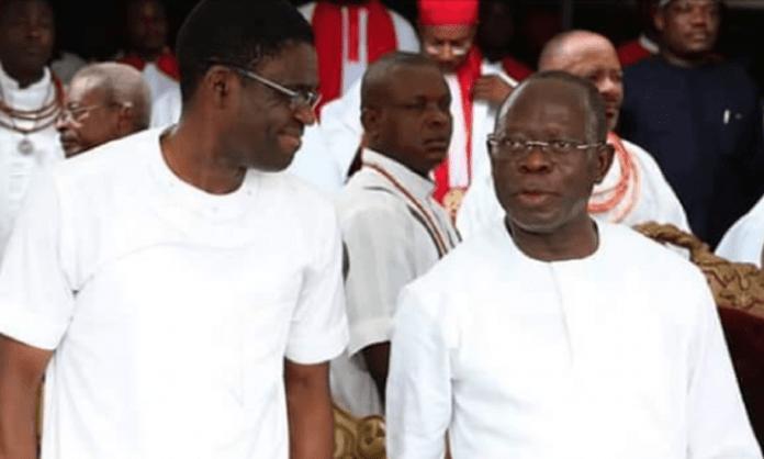 Philip Shuaibu and Adams Oshiomhole