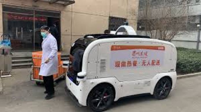 China Uses Self-Driving Cars To Deliver Foods, Disinfect Places In The Street