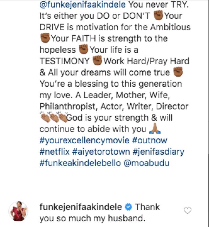 Awwn! See What Funke Akindele's Hubby JJC Skillz Said About Her