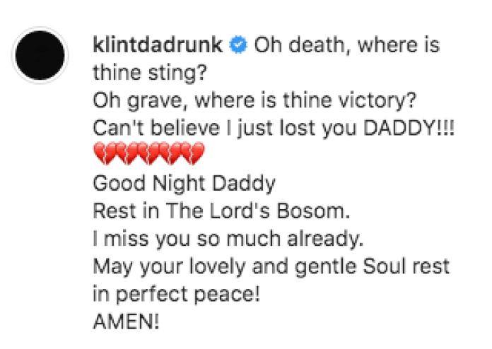 I'm Miss You Already - Klint Da Drunk Mourns Dad's Death
