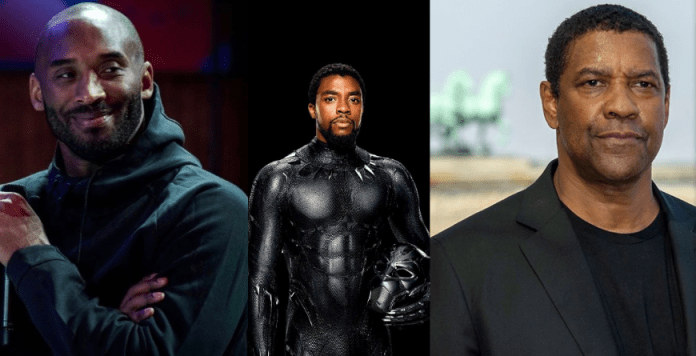Kobe Bryant, Chadwick Boseman and Denzel Washington KOKO TV Nigeria