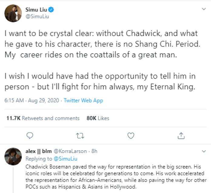 Without Chadwick Boseman, There Is No Me - Simu Liu