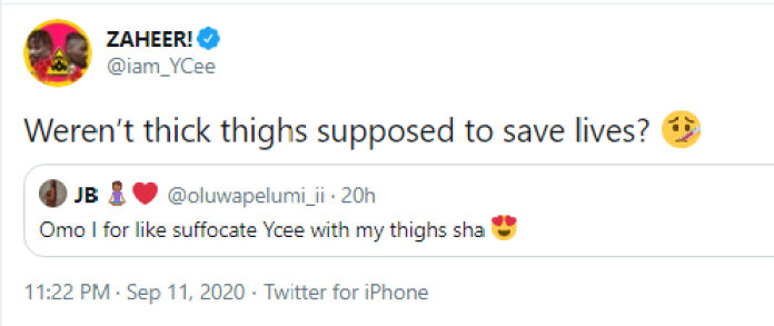 I'm Asthmatic! Ycee Reacts To Fan Who Wants To Suffocate Him On Her Thighs