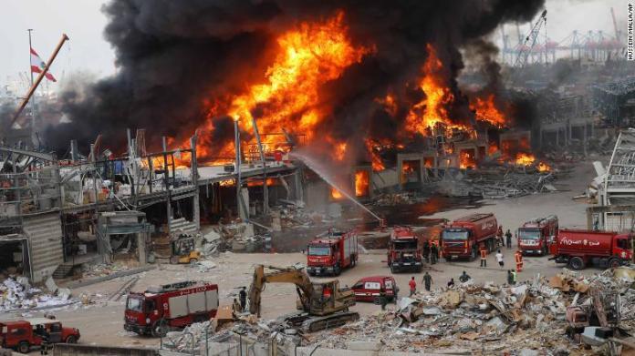 Fire Outbreak At Beirut Port Weeks After Massive Blast