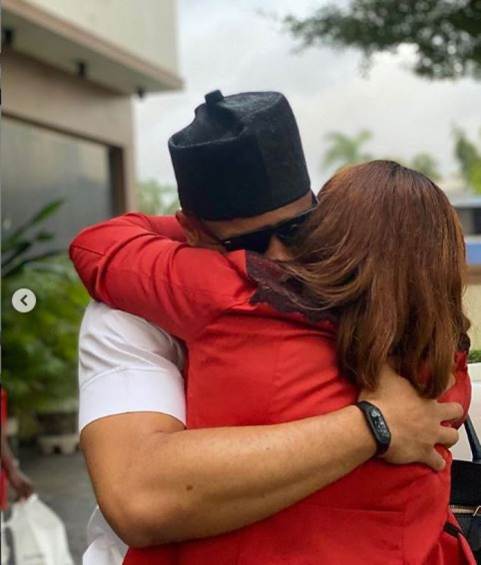 Ozo Reunites With His Mom After BBNaija Eviction