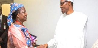 Buhari and Lauretta Onochie