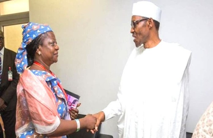 Buhari and Lauretta Onochie