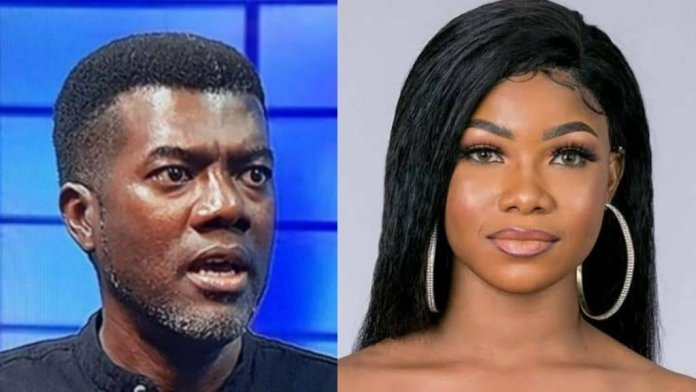 Reno Omokri Slams Tacha For Insulting Her Follower