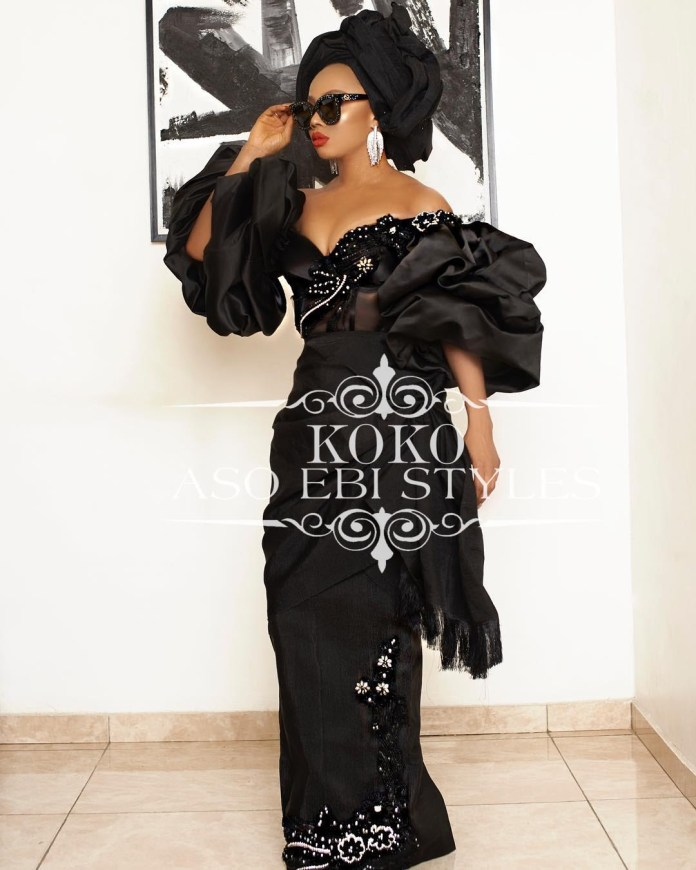 Black Aso Ebi Gown styles