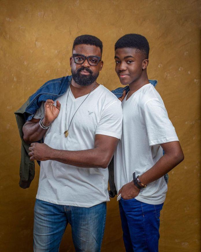 Kunle Afolayan and son DiekoloreOluwa