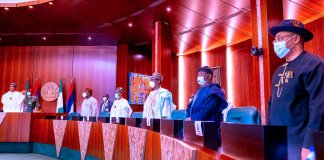 Buhari Holds Closed Door Meeting With State Governors