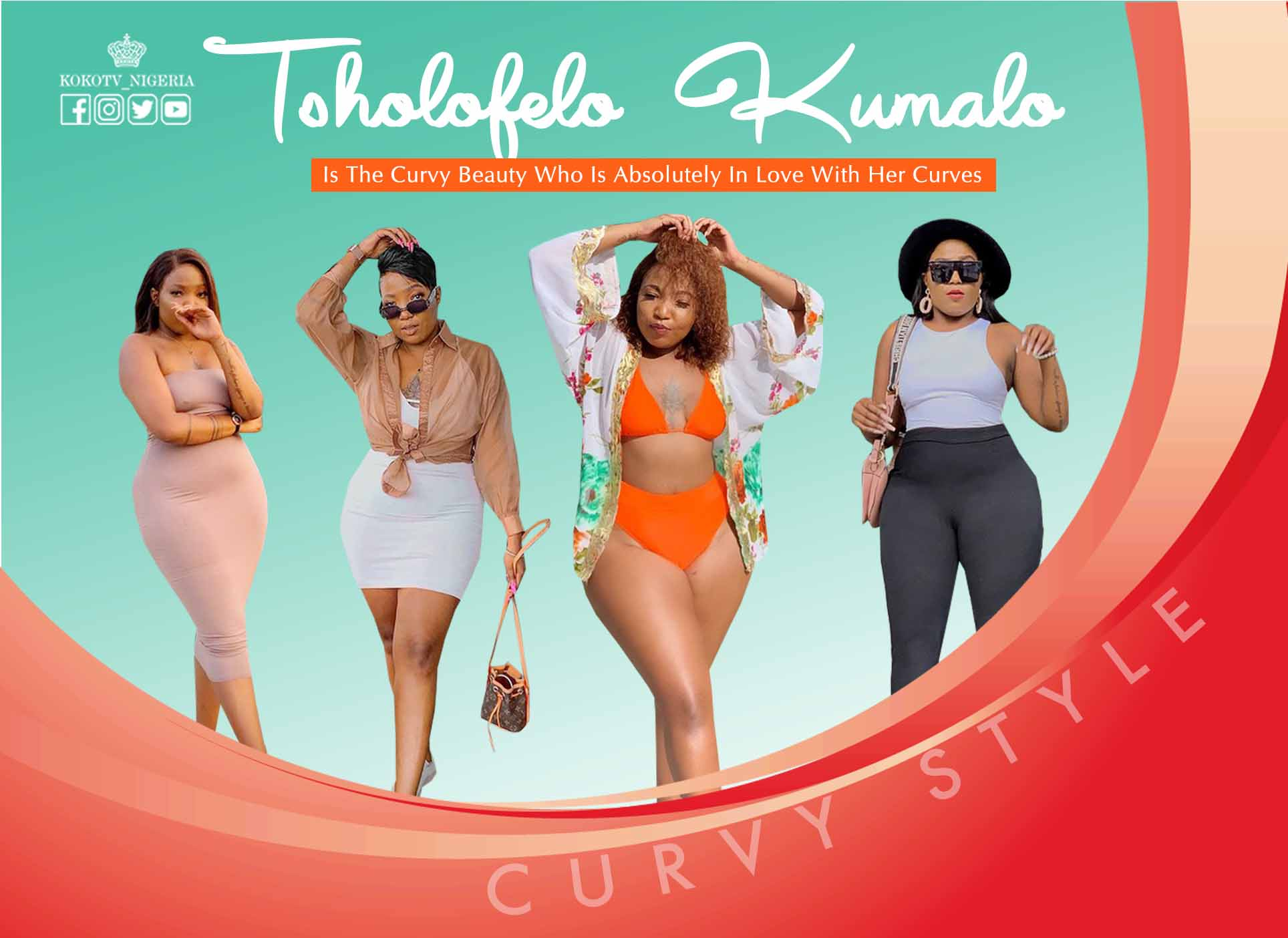 Tsholofelo Kumalo Is The Curvy Beauty Who Is Absolutely In Love With Her Curves
