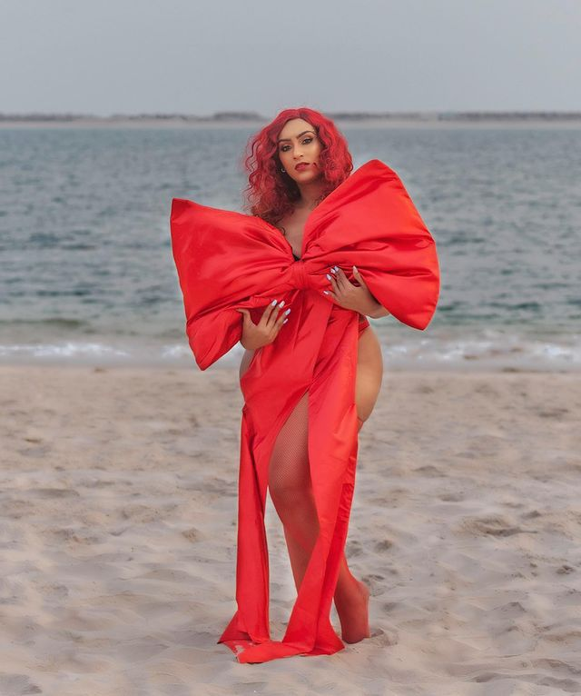 Lady In Red!!! Juliet Ibrahim Shares Raunchy New Photos
