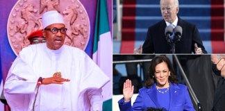 President Buhari, Joe Biden and Kamala Harris