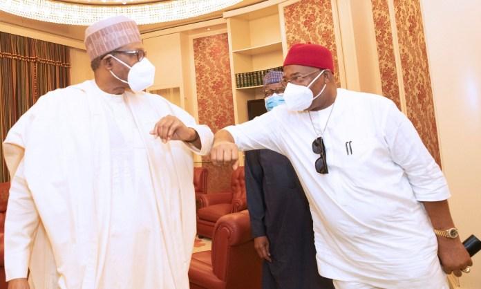 Hope Uzodinma and Muhammadu Buhari