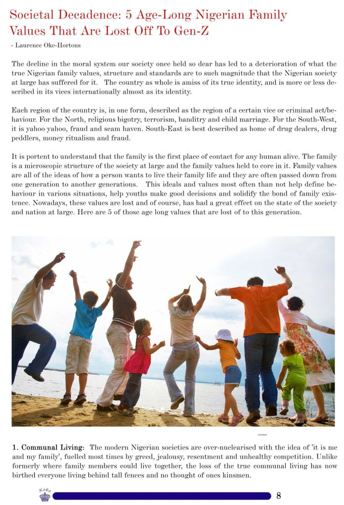 KOKO Weekly Magazine: Families, Technology And Nation Building