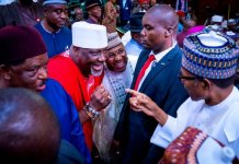 Buhari and Dino Melaye
