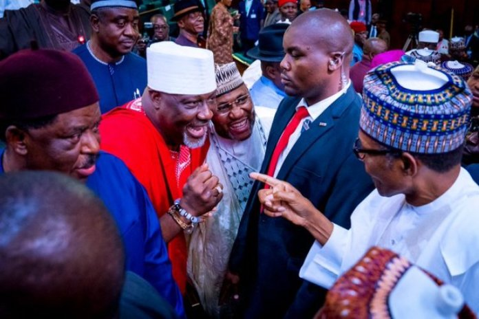 Buhari and Dino Melaye