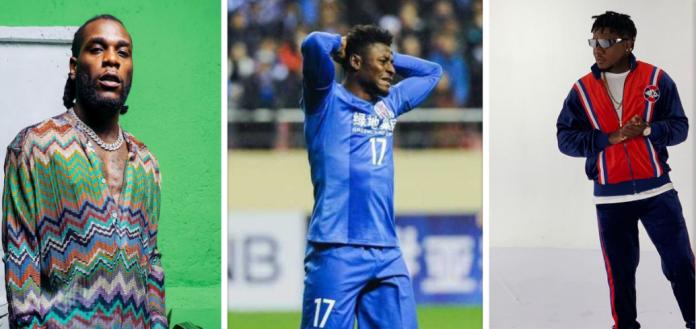 Burna Boy, Obafemi Martins and CDQ