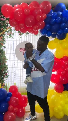 Zlatan Ibile And His Baby Mama, Davita Celebrate Their Son's First Birthday In UK