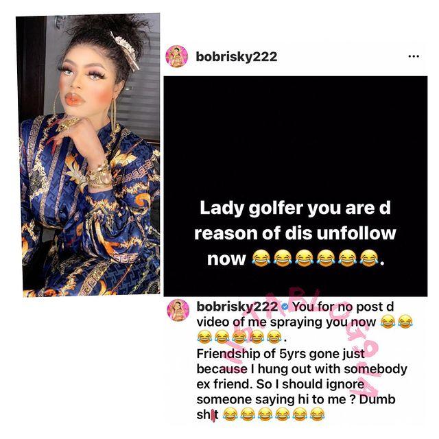 Bobrisky Reveals Why Her Bestie Tonto Dikeh Unfollowed Her KOKO TV NG Bobrisky Reveals Why Her Bestie Tonto Dikeh, Unfollowed Her