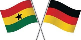 Ghanaian and German flags