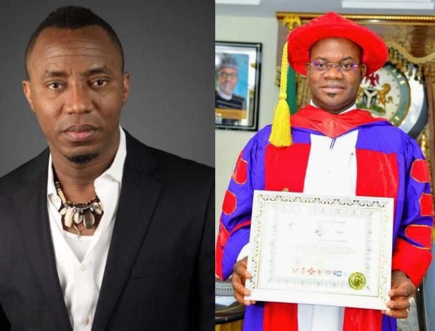 Omoyele Sowore slams Yahaya Bello