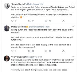 Tweeps drag clergies Tunde Bakare and Father Mbaka KOKO TV Nigeria 6