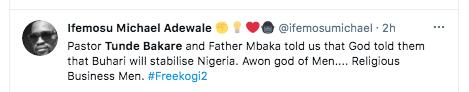 Tweeps drag clergies Tunde Bakare and Father Mbaka KOKO TV Nigeria 9