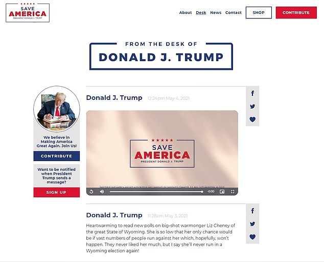 Donald Trump Launches New Website Called Which Lets Followers Share His Posts To Twitter And Facebook