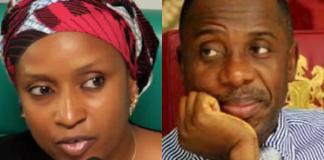 Hadiza Bala Usman and Rotimi Amaechi