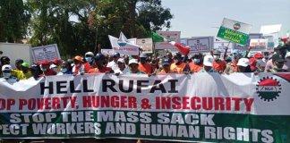 Hell Rufai NLC protest in Kaduna