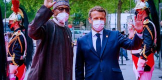 Buhari and Emmanuel Macron KOKO TV NG 8
