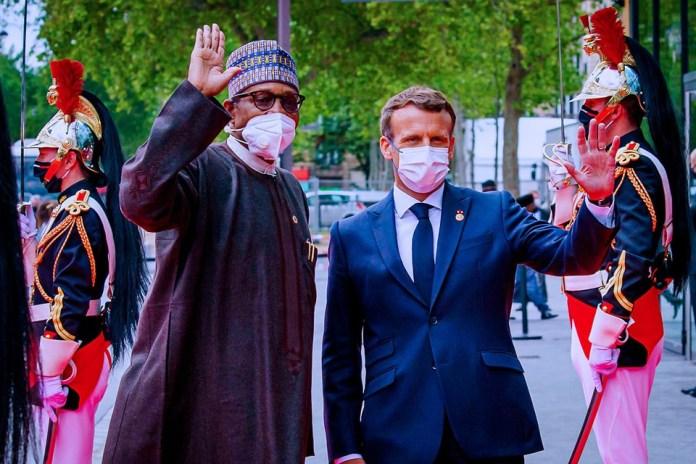 Buhari and Emmanuel Macron KOKO TV NG 8