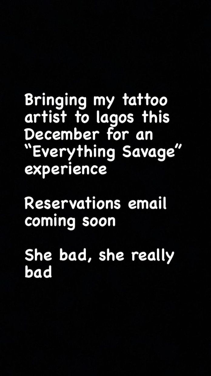 You Burst My Brain! Tiwa Savage Reacts As Fan Tattoos Her Name On Chest