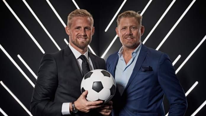 Peter Schmeichel and Kasper Schmeichel