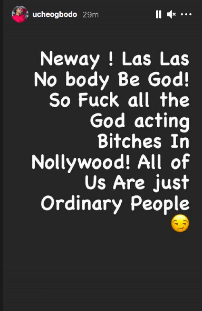 Las Las Nobody Be God! Uche Ogbodo Reacts To Anita Joseph And Moyo Lawal's Rift