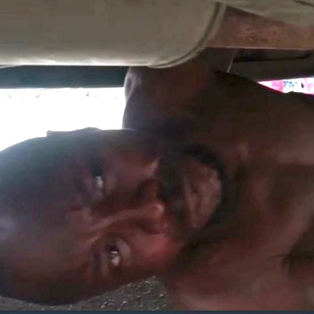Lagos Driver Strips, Hides Under LASTMA Vehicle To Resist Arrest