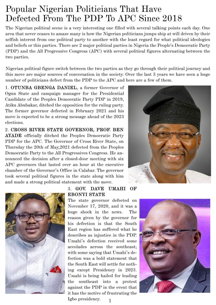 Nigerian Politicians And Politics of highest bidder