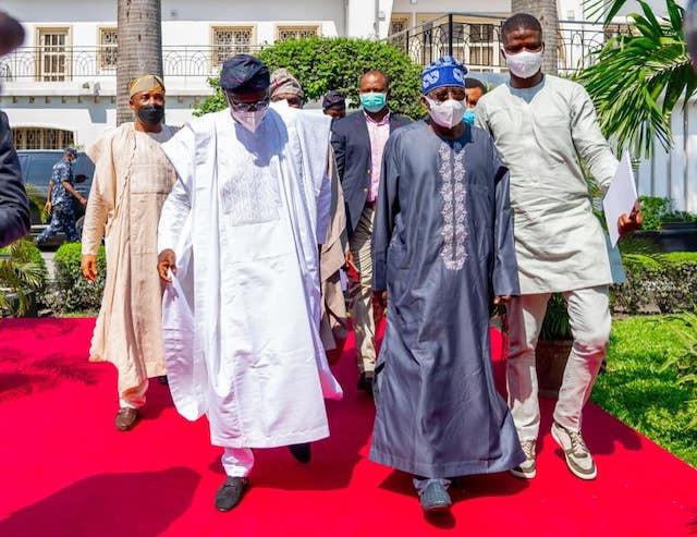 Asiwaju Bola Tinubu and Lagos State Gov Sanwo-Olu
