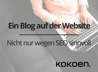Blog auf der Website