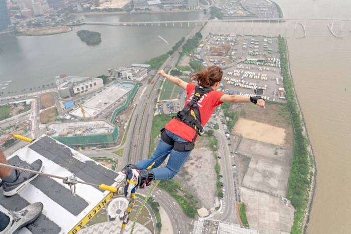【澳門】旅遊塔笨豬跳bungyjump~挑戰腎上腺素直飆的快感!欣賞360度零死角澳門風景!