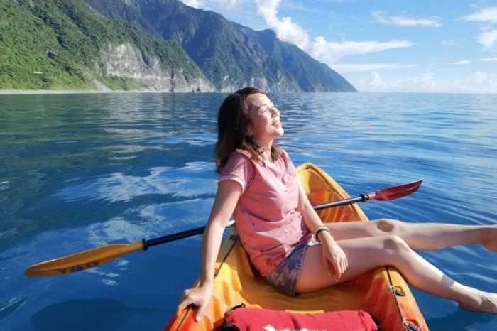 花蓮半日遊玩法,旅遊清單一定要有它「花蓮清水斷崖獨木舟」,徜徉太平洋的懷抱裡!